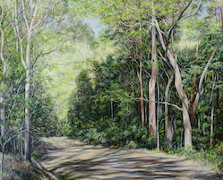 10am May, Off Mill Road, Moggill Conservation Park. 2014. 150cm x 120cm. Oil on canvas. SOLD.