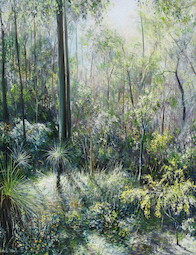 6.30am February, Upper Centre Road, Moggill Conservation Park. 2009. 61cm x 76cm. Oil on canvas. SOLD.